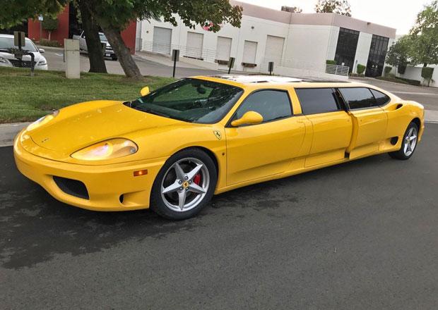 Na prodej je bizarní Ferrari 360 Modena jako limuzína! A zájemci jsou