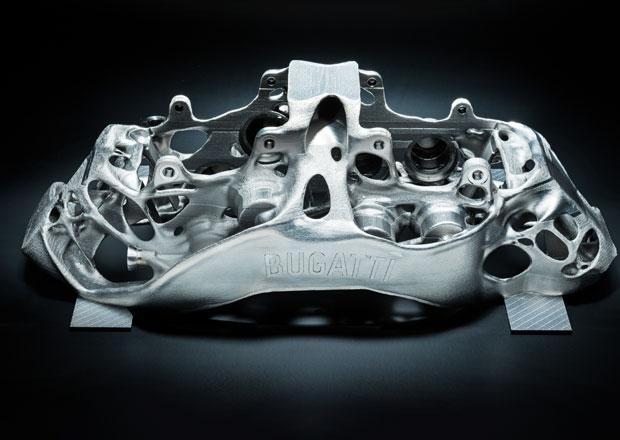 Bugatti má největší titanové brzdové třmeny vyrobené 3D tiskem
