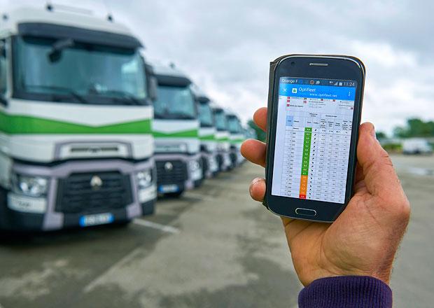 Renault Trucks uvádí Optifleet nově jako mobilní aplikace