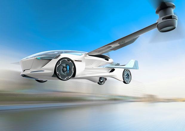 Slováci představují koncept létajícího taxíku na elektřinu. Kromě airbagů má i záchranný padák