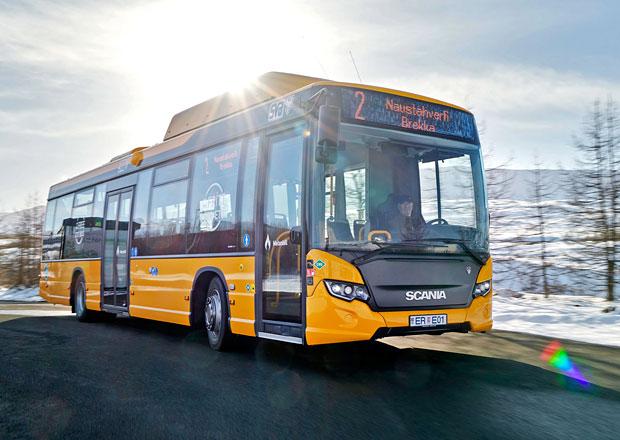 Scania Citywide na Islandu předvádí výhody alternativních paliv