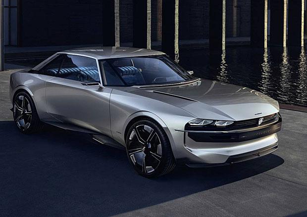 Peugeot e-Legend je krásný retro koncept. Na stovce je za 4 sekundy a ujede 600 km