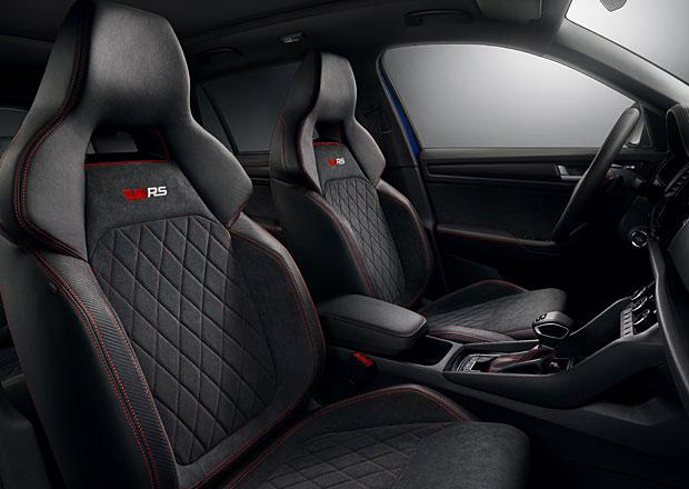 Škoda nechala nahlédnout do interiéru Kodiaqu RS. Rychlé SUV zaujme sedačkami