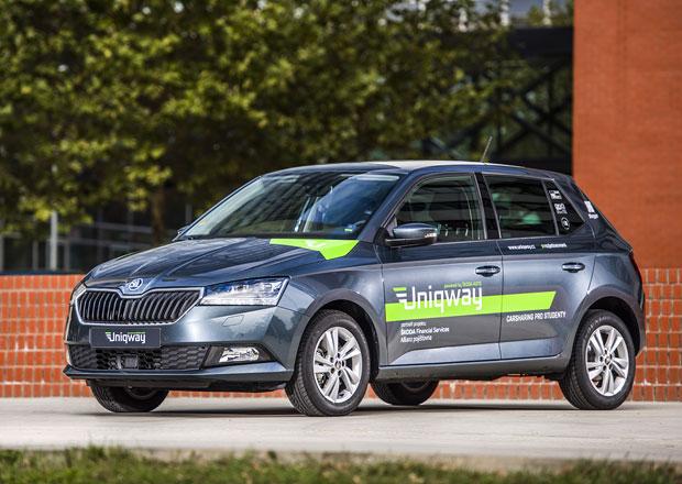 Sdílení aut Uniqway míří do každodenního provozu. Zatím jen pro studenty a pedagogy