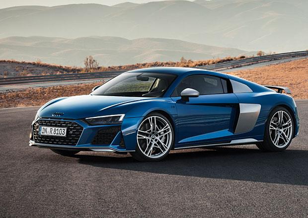 Audi R8 se představuje po faceliftu, má vyšší výkon i dravější design