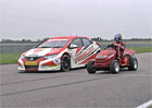 Video: Honda Civic BTCC vs. Honda Mean Mower