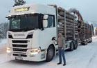 Scania XT v zimě: Stavba na ledu