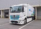 Elektrický Mercedes-Benz eActros míří s chladící nástavbou do Hamburku