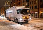 Plug-in hybrid Scania zajišťuje tiché zásobování v nočních hodinách