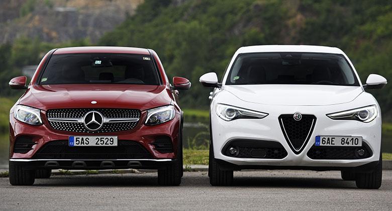 Alfa Romeo Stelvio 2.2 Diesel Q4 vs. Mercedes-Benz GLC 250 d 4Matic – Nečekaná shoda