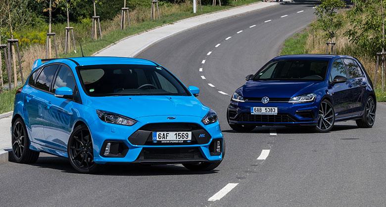 Ford Focus RS vs. VW Golf R – Raubíř a profesor