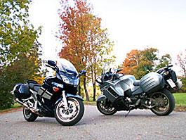 Dueltest - Yamaha FJR1300A vs. Kawasaki 1400GTR: titulní fotka