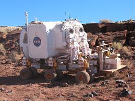 Nové lunární vozítko: fotografie z arizonských testů: titulní fotka