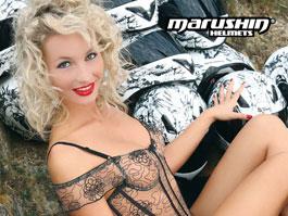 Kalendář Marushin 2009 - helmy a modelky: titulní fotka