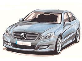 Mercedes-Benz E500: Lorinser zatím jen se skicou: titulní fotka