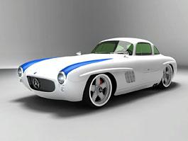Gullwing-America: modernizace klasického Mercedesu 300 SL: titulní fotka