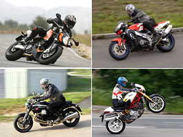 Megatest: Tuono 1000R vs. Monster S4Rs vs. 990 Superduke vs. Griso 1200 8V: titulní fotka