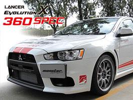 Mitsubishi Lancer EVO X 360 SPEC: 360 koní od Monster Group: titulní fotka
