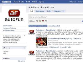 AUTOFUN na Facebooku - staňte se našimi fanoušky: titulní fotka