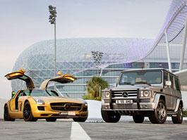 Mercedes SLS AMG Desert gold + G 55 AMG 79 : šejci si dělají pěkné vánoce (i když je neslaví): titulní fotka