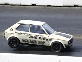 VW Polo I Dragster:  1047 koní v malém hatchbacku: titulní fotka