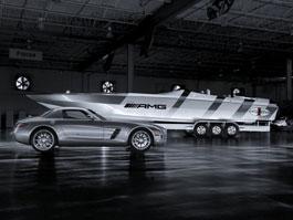 Mercedes-Benz SLS AMG inspirací pro rychlý motorový člun: titulní fotka
