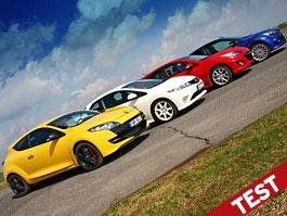 Test: Focus RS vs Mégane RS vs Civic Type R vs Mazda3 MPS: Hledá se okreskový  král: titulní fotka