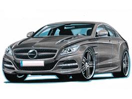 Mercedes-Benz CLS by Lorinser: první skica nového CLS!: titulní fotka