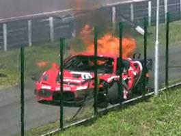 Slovakiaring: nehoda a hořící Ferrari 430 GT3 (+video): titulní fotka