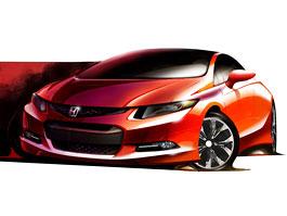 Honda Civic Coupe Concept ohlášena na detroitský autosalon: titulní fotka