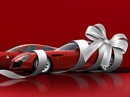 Zagato TZ4 poodhaleno na novoročním přání: titulní fotka
