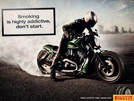 Kouření škodí zdraví: reklamní kampaň Pirelli: titulní fotka