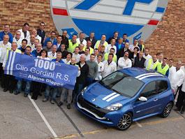 Renault slaví výrobu Clia RS Gordini s pořadovým číslem 1000: titulní fotka