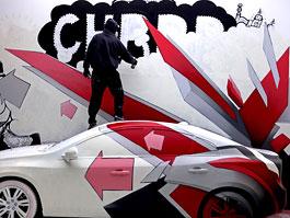 Volvo S60 jako součást uměleckého graffiti: titulní fotka