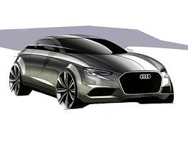 Nové třídveřové Audi A3: zatím jako skica: titulní fotka