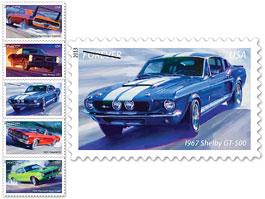 USA má novou sérii známek s muscle cars: titulní fotka