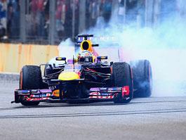 Vítězové závodu formule 1 už mohou dělat oslavné
