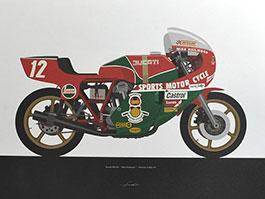 Ugly Moto: Umělecká vzpomínka na klasické závodní motorky: titulní fotka