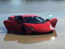 Video: Vyladěné Lamborghini Gallardo skončí v jezeře: titulní fotka