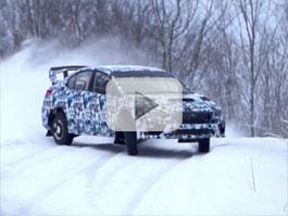 Subaru WRX STI pro Rally America baletí na sněhu: titulní fotka