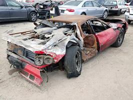Vydražil se vrak shořelého Ferrari, za nejvyšší příhoz byste koupili dvě nové Octavie!: titulní fotka
