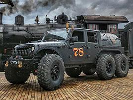 Americký úpravce stvořil šestikolový Jeep na parní pohon. Můžete ho mít: titulní fotka