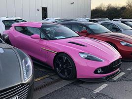 Někdo si objednal růžový Aston Martin Vanquish Zagato Shooting Brake. Jak se vám líbí?: titulní fotka