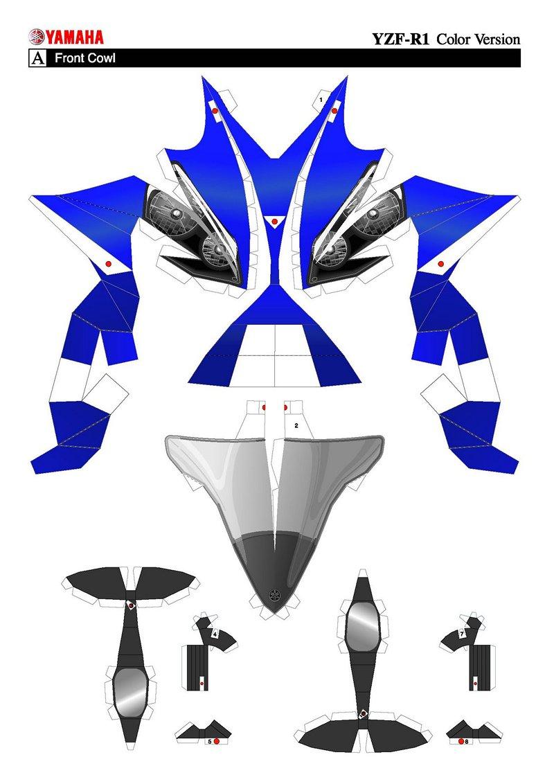 Složte si vlastní Yamahu YZF-R1 z papíru: - fotka 1