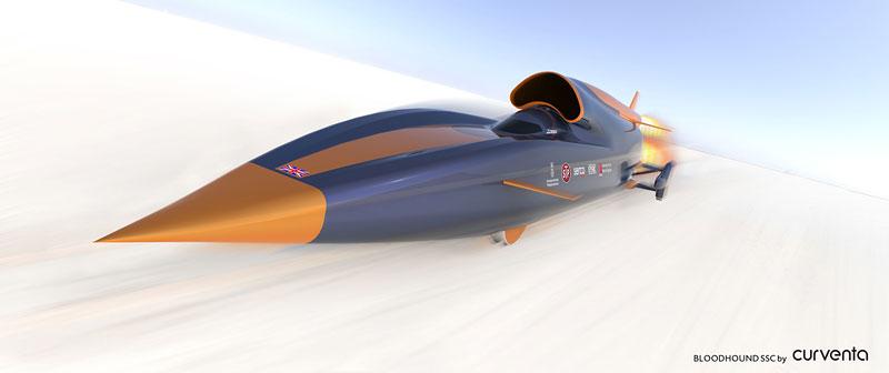 Bloodhound SSC: Pokoří rychlost 1000 mil v hodině?: - fotka 1