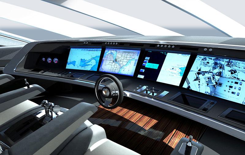 Royal Falcon Fleet RFF135: luxusní katamaran od Porsche Design Studio: - fotka 1