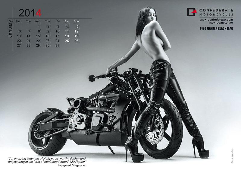 Confederate Motorcycles - kalendář pro rok 2014: - fotka 2