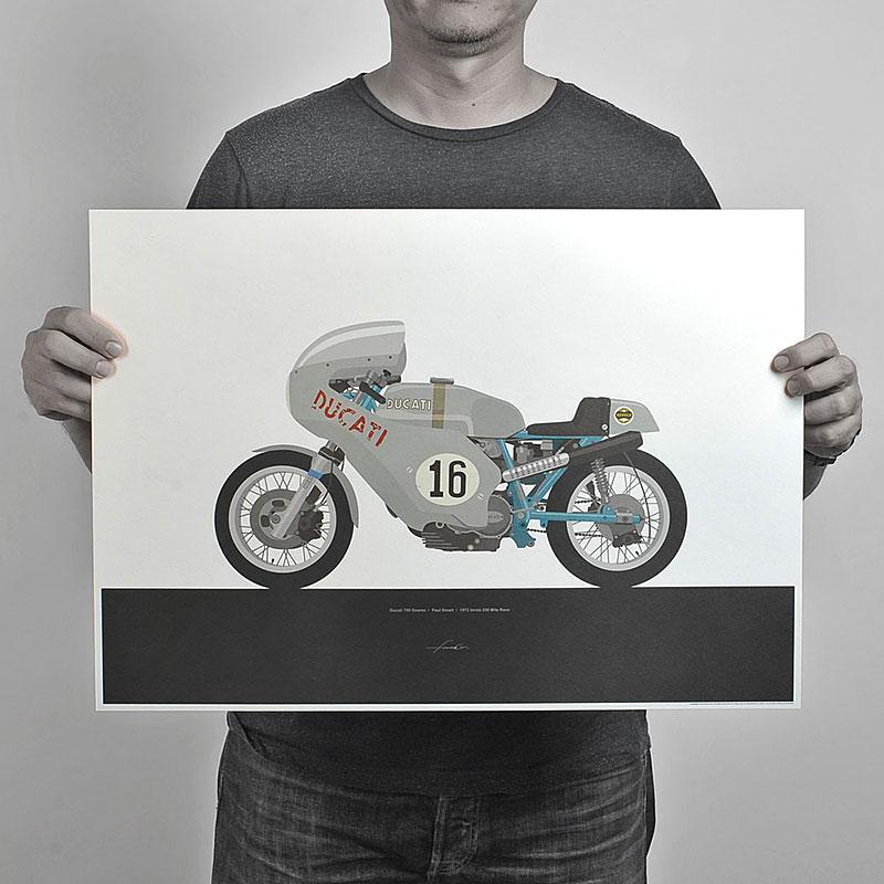 Ugly Moto: Umělecká vzpomínka na klasické závodní motorky: - fotka 1