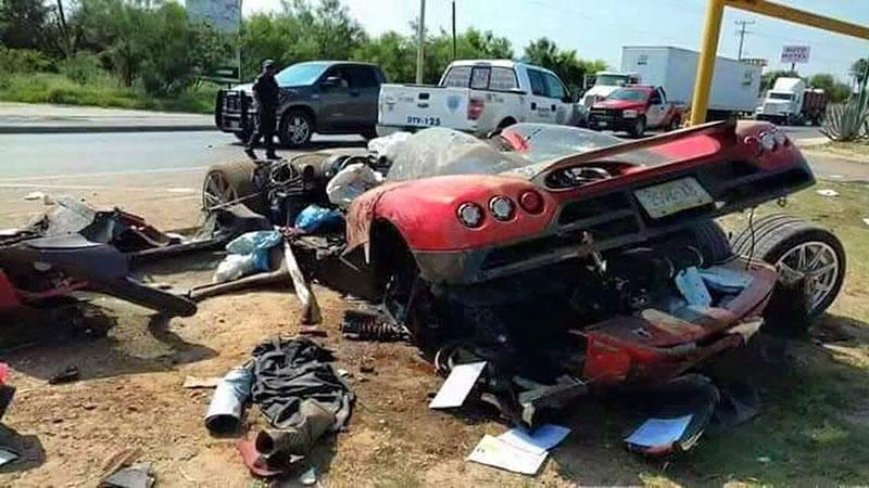 Koenigsegg CCX: Po havárii roztrhaný na kousky: - fotka 1