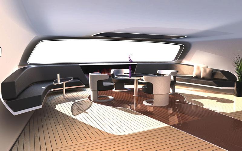 Royal Falcon Fleet RFF135: luxusní katamaran od Porsche Design Studio: - fotka 2